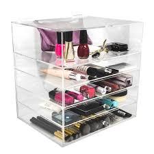 international sorbus 5 tier acrylic cosmetic organizer 5 tier acrylic cosmetic organizer clear