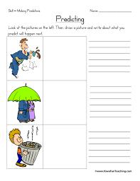 Predictions Worksheets   Have Fun Teaching