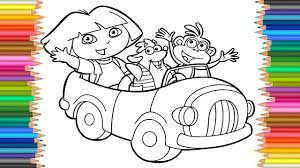 Coloring Page Dora Coloring Markers L Videos For Children Learn
