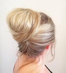 voluminous topknot easy everyday updo hairstyle for summer trenst updos for um length hair