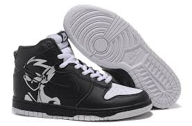 nike shoes white and black high top. official nike dunk sb high top men naruto black white shoes and b