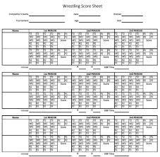 Horsemanship Score Sheet Sample