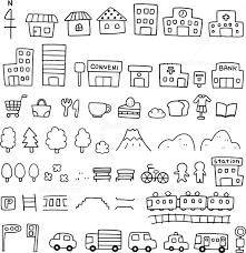 手描きの地図素材 イラスト素材 3932528 フォトライブラリー