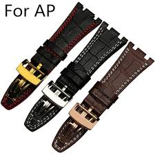 new arrived 28mm ap watchbands 3 styles to choose black red brown