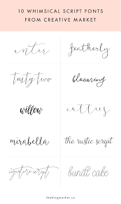 Fonts For Tattoos Whimsical Script Fonts From Creative Market Art Creativity And