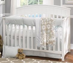 liz roo powder blue houndstooth 4 piece crib bedding set