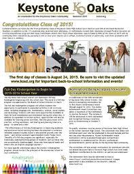 achievement awards for elementary students keystone oaks golden eagles summer 2015 update by keystone oaks