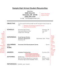 High School Job Resume Resume Work Template