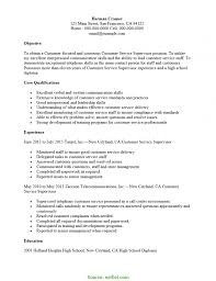 Customer Service Objective Resume Sample Simple Customer Service Supervisor Resume Midlevel Cust Service 44