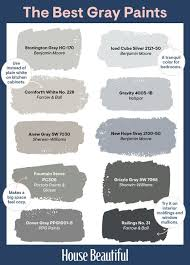 Richards Paint Color Chart 26 Best Grey Paint Colors Top Shades Of Gray Paint