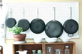 swingeing pots and pans wall racks hanging pot pan rack inspirations for greatest on hang diy beautiful pots and pans wall