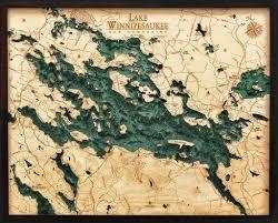 Nautical Wood Charts Lake Winnipesaukee New Hampshire 3 D Nautical Wood Chart