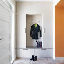 contemporary bag entry contemporary with orange wall storage bench built in storage