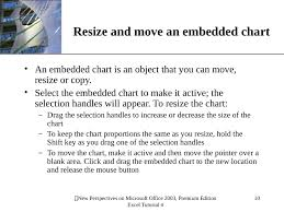 To Resize An Embedded Chart Slides Show