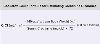 note this is the original cockcroft gault formula for estimating creatinine clearance this figure 2 cockcroft gault formula for estimating creatinine