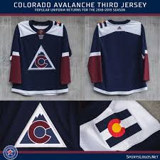 Shop avalanche jersey deals on official colorado avalanche jerseys at the official online store of the national hockey league. Colorado Avalanche Unveil Third Uniform For 2018 19 Sportslogos Net News