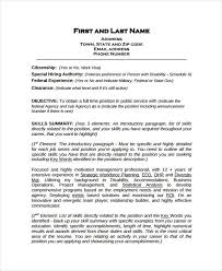 How To Write Your Skills On A Resume New Federal Work Resume