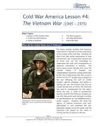 Cold War America Lesson 4 The Vietnam War