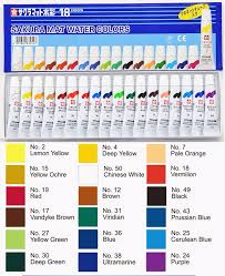 Sakura Poster Color Chart Us 21 3 Sakura Mat Water Colors Paint Set Watercolor Pigment For Painting Japan In Water Color From Office School Supplies On Aliexpress
