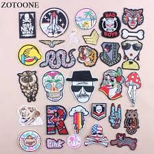 <b>ZOTOONE Iron</b> On Skull Owl Military Patching For Clothes DIY ...