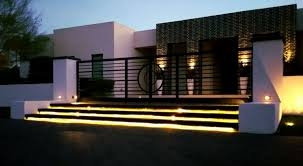 Outdoor Lighting Design Principles Contemporary Desert Home Illuminated By Inspired Leds