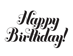 Black Happy Birthday Happy Birthday Black And White Happy Birthday Font Happy