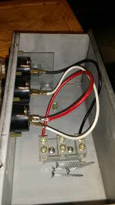 electrical wire a 30a 15a 30a fuse box to a 4 wire 120v 240v under fuse