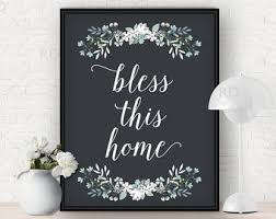 bless this home printable wall art bless this home print with flowers florals on bless our home wall art with printable art bless this nest print bird printable art bird