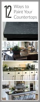 how to paint countertops 12 tutorials painted furniture ideas countertop paintdiy countertopspainting bathroom countertopsreplace