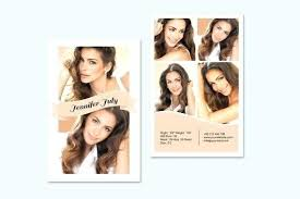Model Comp Card Template Zed Modeling Fashion By Free