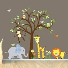 baby monkey wall decals safari wall decal nursery wall decal jungle animal wall  decal safari wall