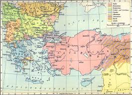 map of the balkan peninsula and asia minor   peoples and races