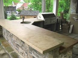 outdoor ligth brown concrete kitchen countertops traditional patio new york