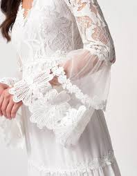 Ivory Long Sleeve Lace Detailed Maxi Dress | Forever Unique
