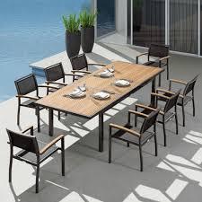 heck 9 pieces retractable patio dining