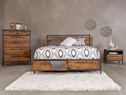 industrial bedroom furniture. Insigna Collection From Dania Furniture. Industrial Cabin Look. $799 Bed, $849 High Chest, $289 Night Stand. Bedroom Furniture