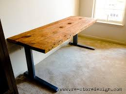 office desk plan. Reclaimed Wood Desk Diy With Regard To Office Furniture Plan 15