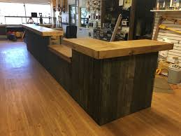 rustic custom s counter or reception desk by foobars