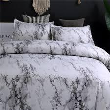 marble bedding set purple white black coffee blue duvet cover twin double queen quilt cover bed linen no sheet no filling king size duvet cover white duvet