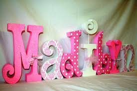 best wall letters for names in baby nursery white pink color name simple creation hanging nice samlple