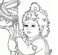 Baby Krishna Coloring Pages - GetColoringPages.com
