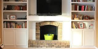 brick wall fireplace makeover47 brick