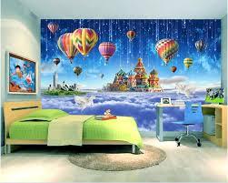 Custom Photo Mural 3d Behang Kinderkamer Ster Kasteel Ballon Decor