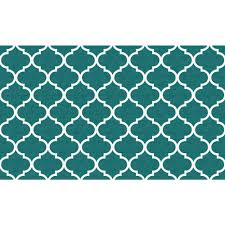 ruggable washable moroccan trellis teal 3 ft x 5 ft area rug