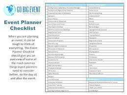 Event Planning Packages Template Party Planner Online Checklist