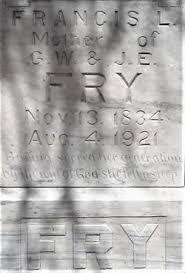 Francis Elvira Ratliff Fry (1834-1921) - Find A Grave Memorial