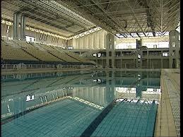 Indoor Swimming Pool Olympic Stadium Athens Greece SD Stock