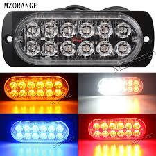 <b>MZORANGE</b> Ultra thin LED High Power 12W Police Lights <b>12V</b> 24V ...