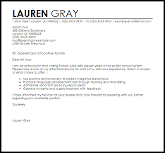 Gallery Of School Aide Cover Letter Sample Livecareer Teacher Aide