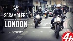 bmw r nine t scramblers in london youtube